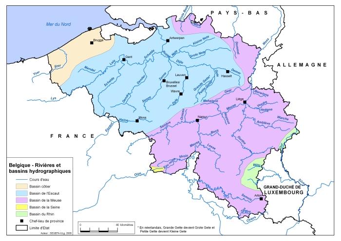 Carte complète _ Belgique, rivières et bassins hydrographiques (ressource 3161)-2