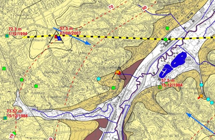 Carte hydrogéologique Limal Martineau